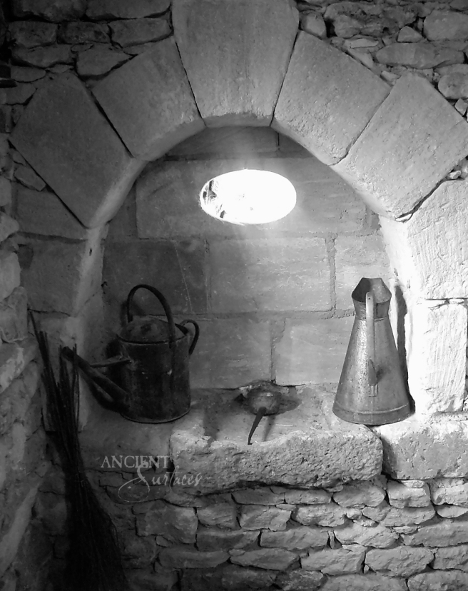 In Situ, Old Limestone Sink as seen in a traditional French farmhouse in Aix-en-Provence.