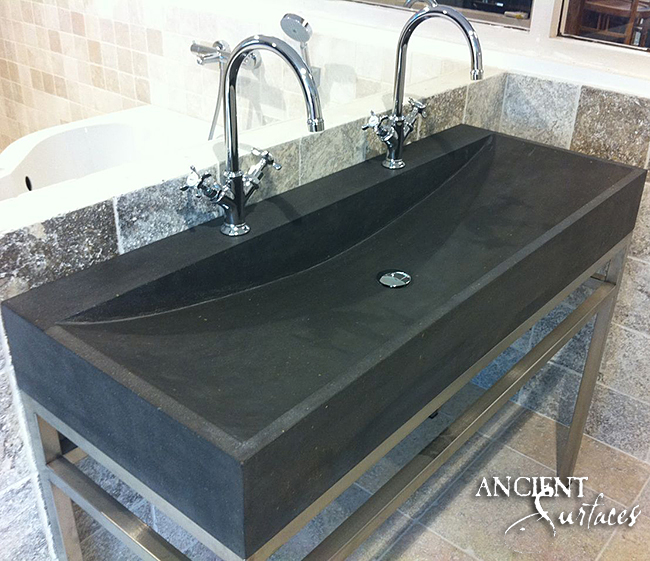 Bathroom Belgium Black Basalt Sinks 03