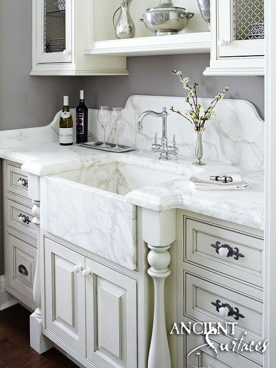 Bathroom Trough Marble Sink-12